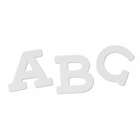 Wooden Letters White
