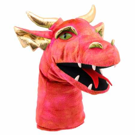 Large Dragon Heads rot 43 cm